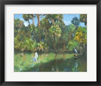Framed Egrets In Paradise