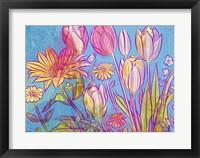 Framed Rebel Yell Tulips
