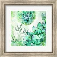 Framed Irish Mint Garden