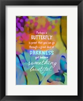 Framed Beautiful Butterfly (words)