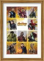 Framed Avengers Infinity War (chart)