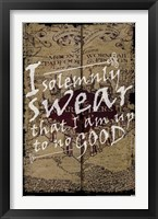 Framed Harry Potter - I Solemnly Swear
