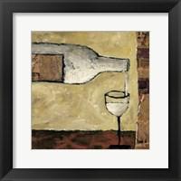 Framed White Wine Pour