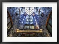 Framed Barcelona blue
