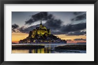 Framed Mont Saint Michel France