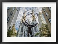 Framed Rockefeller plaza New York