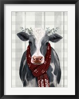 Framed Yuletide Cow II