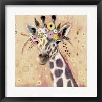 Framed Klimt Giraffe I