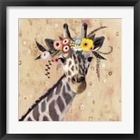 Framed Klimt Giraffe II