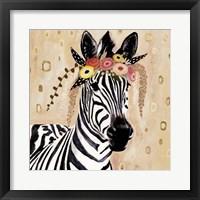 Framed Klimt Zebra I