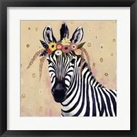 Framed Klimt Zebra II