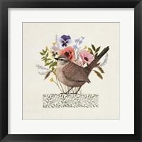 Framed Avian Collage I