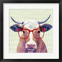 Framed Bespectacled Bovine I