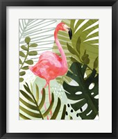 Framed Flamingo Forest II