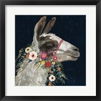 Framed Lovely Llama I