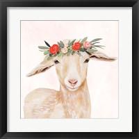 Framed Garden Goat I