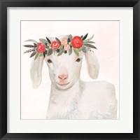 Framed Garden Goat IV