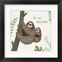 Framed Sloth Sayings III