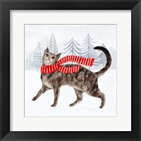 Framed Christmas Cats & Dogs I