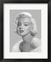 Framed True Blue Marilyn