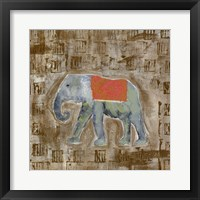 Framed Global Elephant I