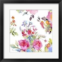 Framed Watercolor Flower Composition I