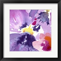 Framed Watercolor Flower Composition IV