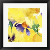 Framed Watercolor Flower Composition V