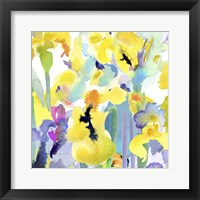 Framed Watercolor Flower Composition VI