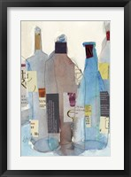 Framed Wine Bottles I