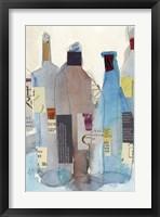 Framed Wine Bottles I