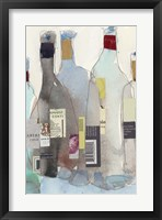 Framed Wine Bottles III