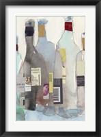 The Wine Bottles III Framed Print