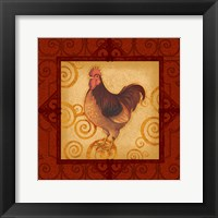 Framed Decorative Rooster III