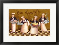 Framed Chefs Bon Appetit V
