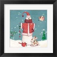 Framed Folk Snowman II
