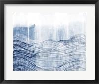Framed Indigo Waves II