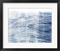 Framed Indigo Waves I