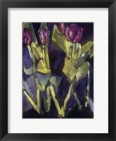 Framed Violet Spring Flowers I