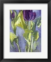 Framed Violet Spring Flowers II
