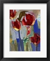 Framed Painterly Tulips I