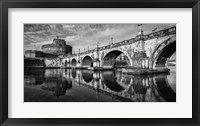 Framed St Angelo Rome Black/White