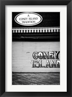 Framed Coney Island New York Black/White