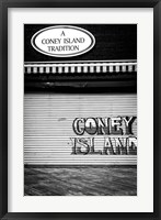 Framed Coney Island New York Black/White