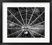 Framed Wonder wheel  New York Black/White