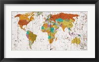 Framed World Map VIII
