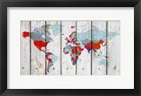 Framed World Map IX