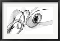 Framed Abstract Black and White Art 2015-03-08