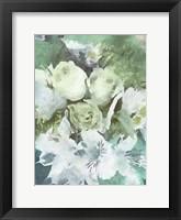 Framed Green Flowers 1