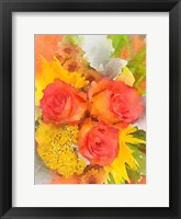 Framed Orange Flowers 2